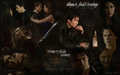"""Hemorrhage"" -- Damon and Elena - the-vampire-diaries wallpaper"