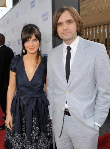 Actress Zooey Deschanel and Death Cab For Cutie lead singer Ben Gibbard