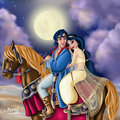 Aladdin and Jasmine Prince of Persia style