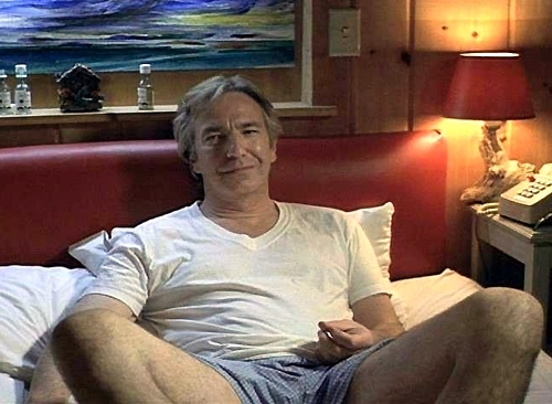 Alan Rickman wolpeyper with a family room, a living room, and a drawing room called Alan Rickman waiting for one of us