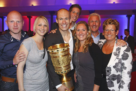 Arjen Robben and his family