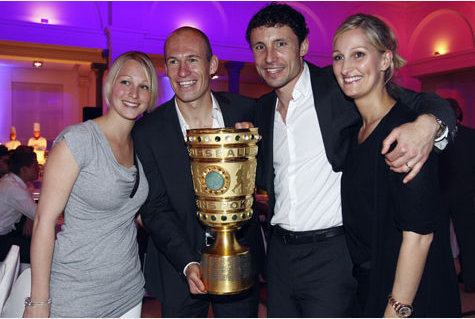 Arjen Robben and his wife Bernadien
