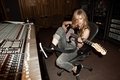 Avril Lavigne in the studio