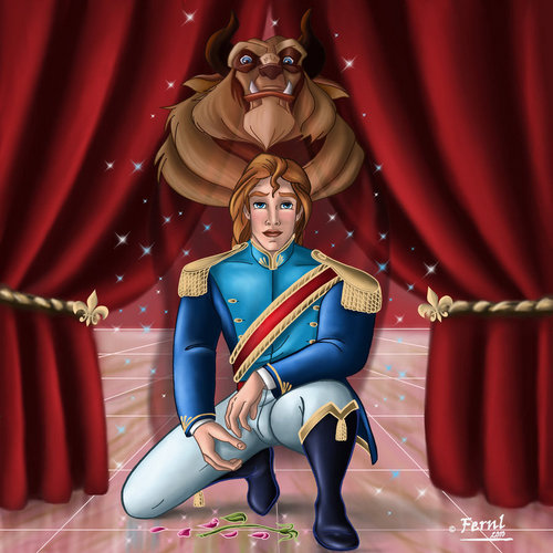 Beast and Prince Adam illusion