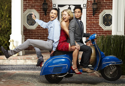 The Big Bang Theory wallpaper possibly with a motorcycle cop called Big Bang Theory TV Guide Photoshoot 2010