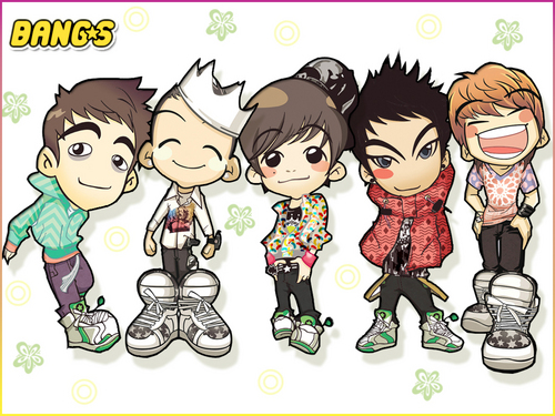 Kpop wallpaper containing anime called Bigbang