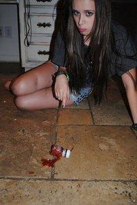 Caitlin killed the Ketchup