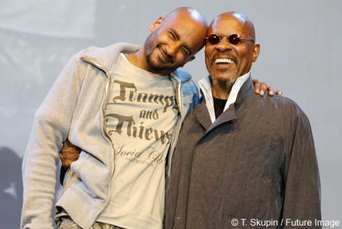 Cirroc Lofton and Avery Brooks