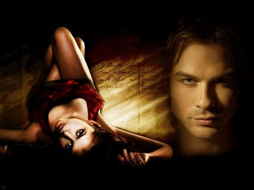Damon & Elena - the-vampire-diaries-tv-show Wallpaper
