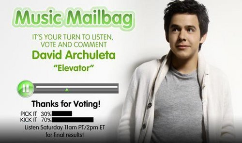 David Archuleta's Elevator on Radio disney musik Mailbag :)