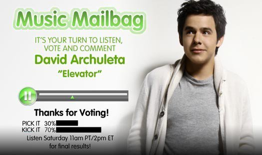 David Archuleta's Elevator on Radio Disney موسیقی Mailbag :)