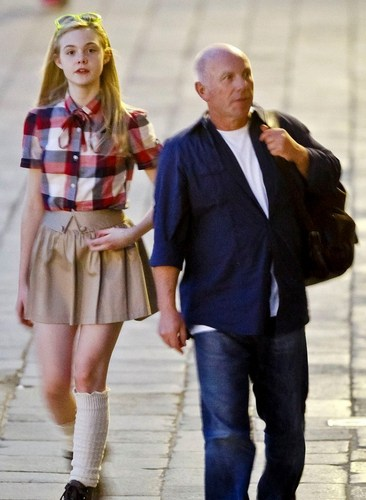 Elle Fanning out in Venice