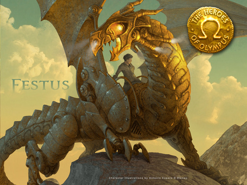 The Heroes of Olympus achtergrond entitled Festus