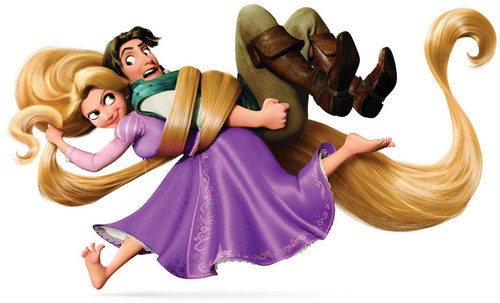 tangled wallpaper entitled Flynn and Rapunzel :)