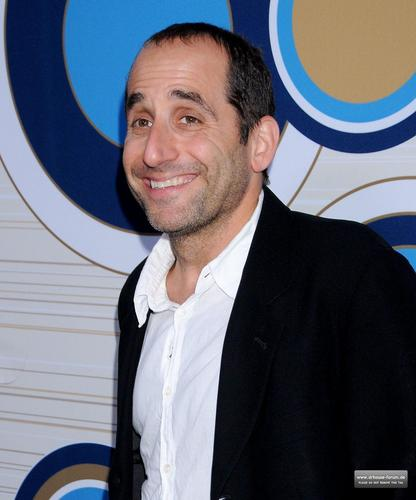 Peter Jacobson karatasi la kupamba ukuta possibly with a business suit, a fedora, and a boater called Fox's Fall Eco-Casino Party 2010 [September 13, 2010]
