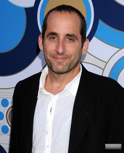 Peter Jacobson karatasi la kupamba ukuta possibly containing a business suit called Fox's Fall Eco-Casino Party 2010 [September 13, 2010]