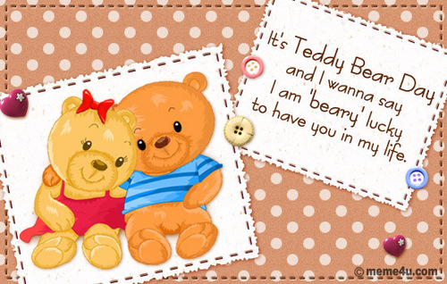"Girls, I'm ""beary"" lucky to have आप in my life"