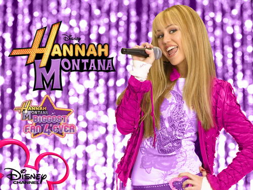 Hannah Montana Season 2 Purple Background Hintergrund as a part of 100 days of hannah Von dj!!!