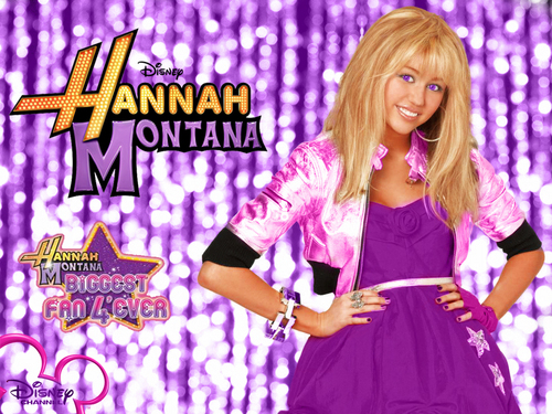 Hannah Montana Season 3 Purple Background Hintergrund as a part of 100 days of hannah Von dj!!!