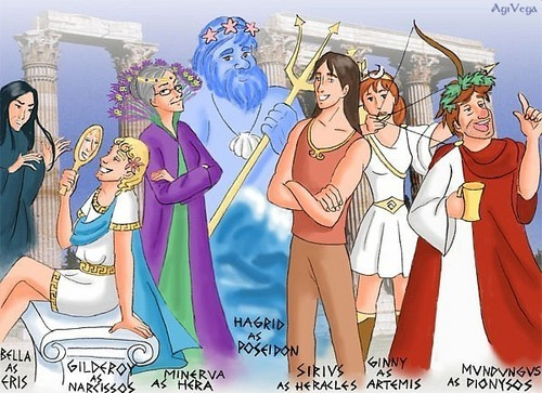 Harry Potter adults as Greek Gods
