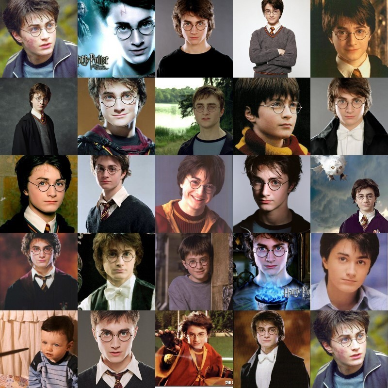 harry potter through the years