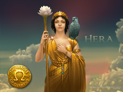 The Heroes of Olympus kertas dinding titled Hera