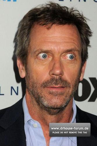 Hugh making faces XD XD