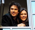 Ian Somerhalder & Nina Dobrev / London - the-vampire-diaries-actors photo