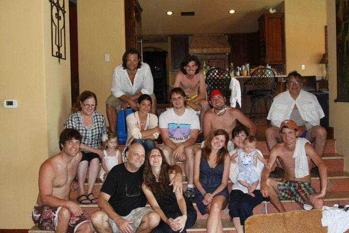 Jared Padalecki & Genevieve Cortese with family
