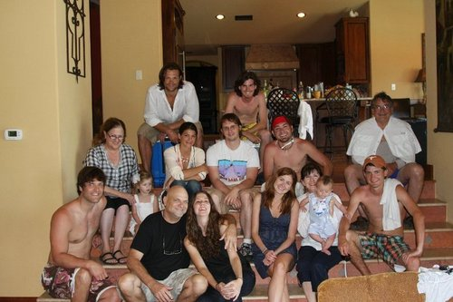 Jared Padalecki and Genevieve Cortese with family