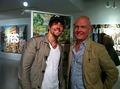 Jason and American Artist Trey Speegle Sept 16 2010 (The Trevor Project)
