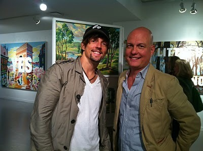 Jason and American Artist Trey Speegle Sept 16 2010 (The Trevor Project)