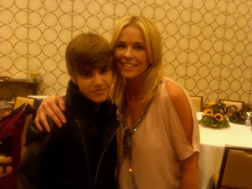 Justin Bieber with Chelsea Handler