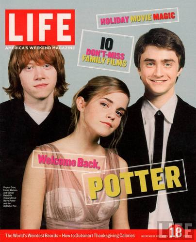 LIFE Cover 11-18-2005 of the Co-stars of the Harry Potter Films