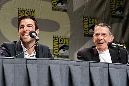 Leonard Nimoy and Zachary Quinto