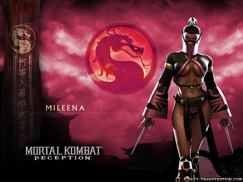 Mortal Kombat kertas dinding probably with Anime titled Mileena