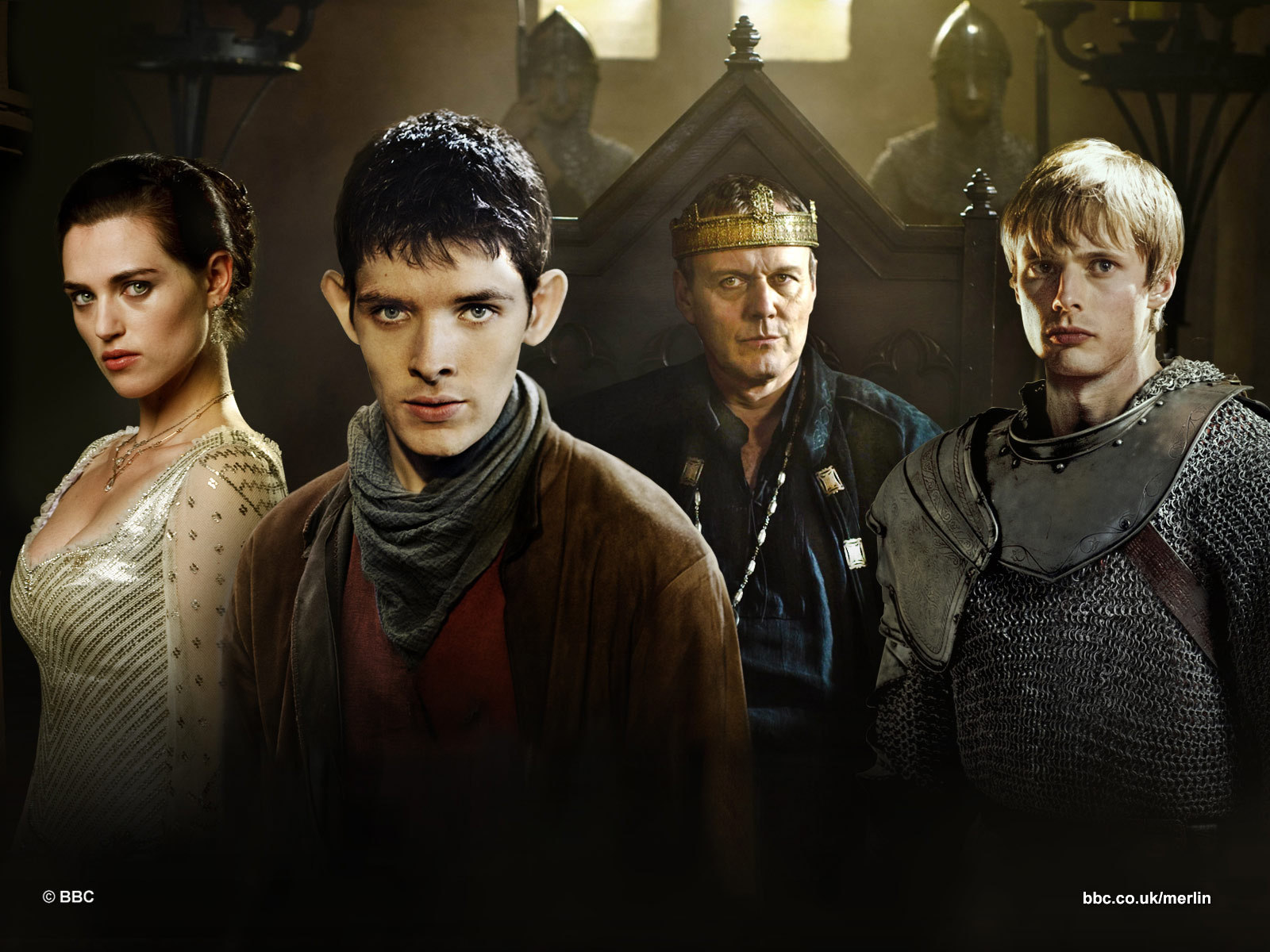 Morgana, Merlin, Uther & Arthur - Merlin on BBC Wallpaper