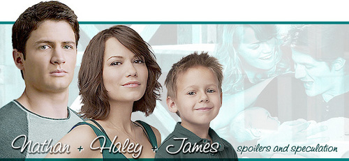 Naley wallpaper with a portrait entitled Nathan,Haley and Jamie:D