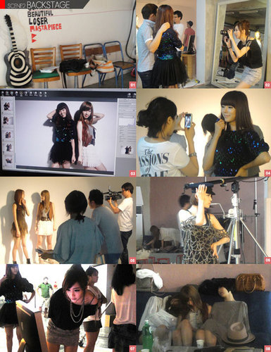 Nine Muses behide the scene of the elle litrato shoot