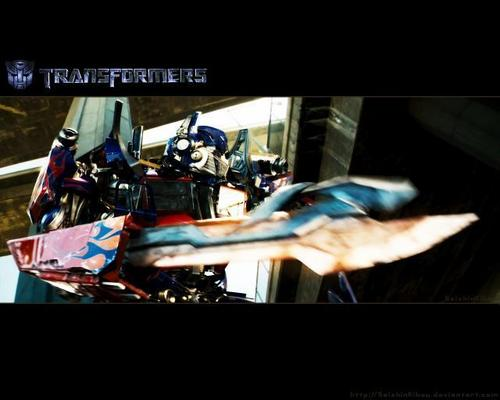 Optimus Prime wallpaper probably with a Televisione receiver, a high definition television, and Anime titled Optimus Prime