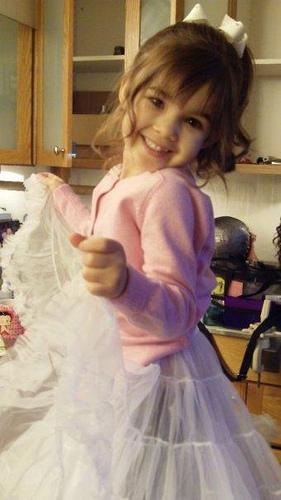 Renesmee posing in her new dress