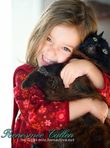 Renesmee with her new cat