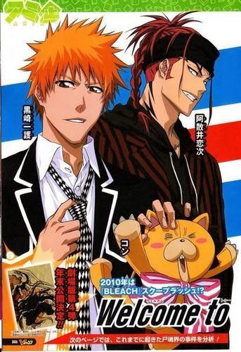 Renji Ichigo and Kon