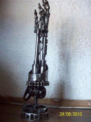 Terminator Arm made with junk,bolts,nuts - terminator Fan Art