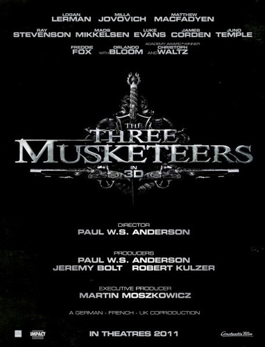 The First Poster for The Three Musketeers 3D