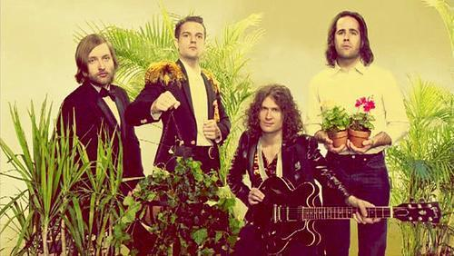 The Killers with some plants