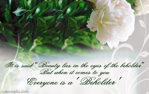 To the beautiful Berni :)