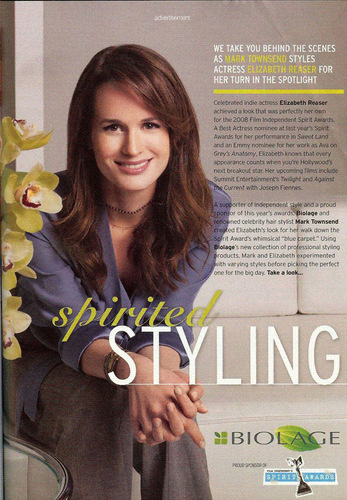 Elizabeth Reaser wallpaper probably with a sign, a newspaper, and anime entitled Unknown Magazine