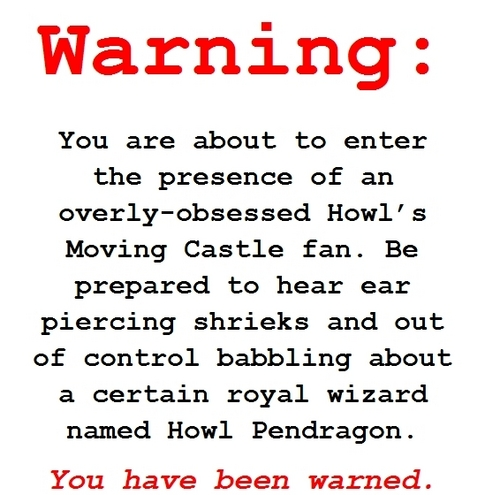 Warning - howls-moving-castle Fan Art