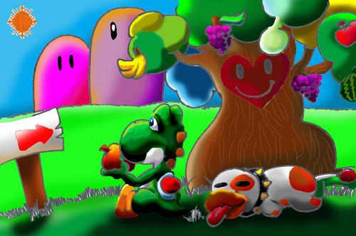 Yoshi's Happy albero